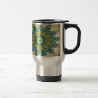Kaleidoscope design product image-made with love stainless steel travel mug