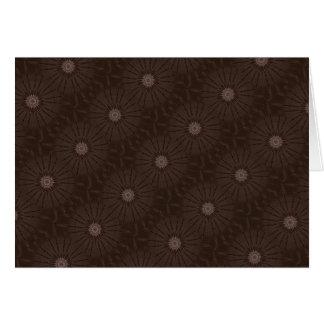Kaleidoscope Design Rustic Brown Card