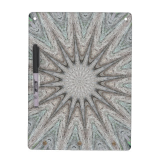 Kaleidoscope Design Rustic Light Gray Colors Dry Erase Board