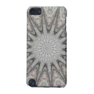 Kaleidoscope Design Rustic Light Gray Colors iPod Touch (5th Generation) Cases