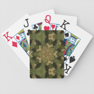 Kaleidoscope Design Star from Pampas Grass Green Bicycle Playing Cards