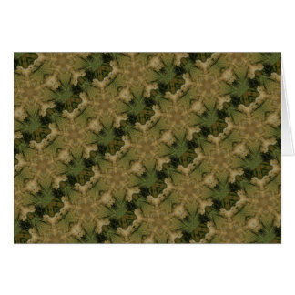 Kaleidoscope Design Star from Pampas Grass Green Card