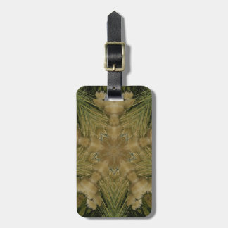 Kaleidoscope Design Star from Pampas Grass Green Luggage Tag