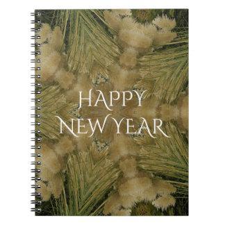 Kaleidoscope Design Star from Pampas Grass Green Notebooks