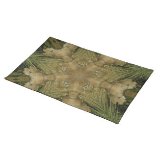 Kaleidoscope Design Star from Pampas Grass Green Placemat
