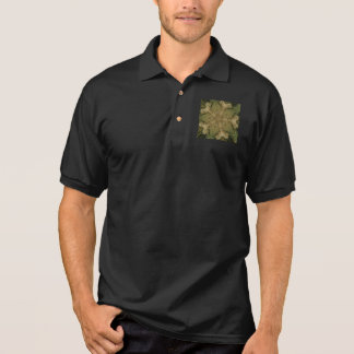 Kaleidoscope Design Star from Pampas Grass Green Polo Shirt