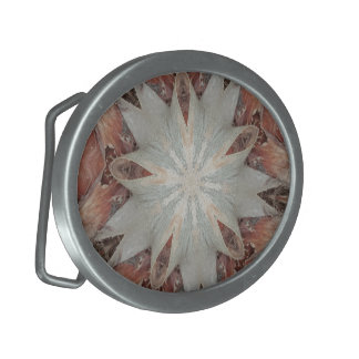 Kaleidoscope Design Star from Trunk of Palm Tree Belt Buckle