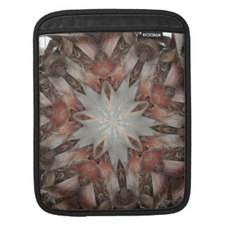 Kaleidoscope Design Star from Trunk of Palm Tree iPad Sleeve