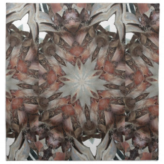 Kaleidoscope Design Star from Trunk of Palm Tree Napkin