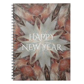 Kaleidoscope Design Star from Trunk of Palm Tree Notebook
