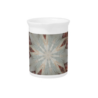 Kaleidoscope Design Star from Trunk of Palm Tree Pitcher