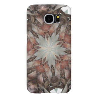 Kaleidoscope Design Star from Trunk of Palm Tree Samsung Galaxy S6 Cases
