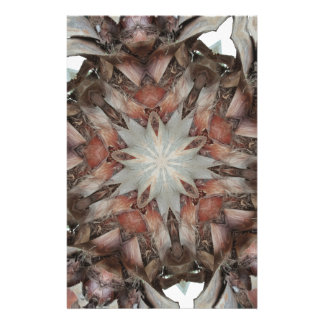 Kaleidoscope Design Star from Trunk of Palm Tree Stationery