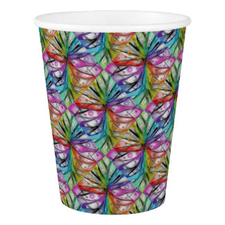 Kaleidoscope Dragonfly Paper Cup