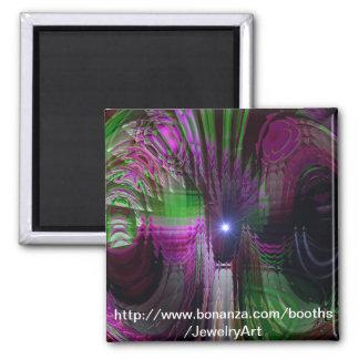 Kaleidoscope Dream Square Magnet