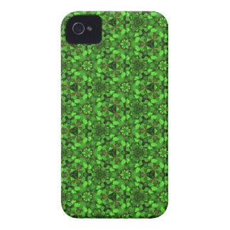 Kaleidoscope Dreams Bright Shamrock Greens iPhone iPhone 4 Cases