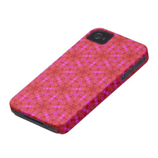 Kaleidoscope Dreams Hearts in Pink and Red Case-Mate iPhone 4 Cases