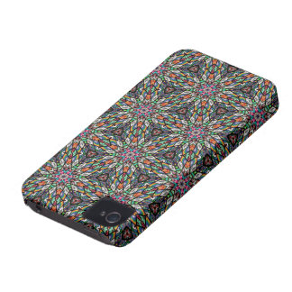 Kaleidoscope Dreams in Stained Glass iPhone 4 Cases