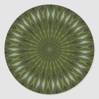 kaleidoscope envelope seals classic round sticker