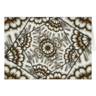 Kaleidoscope fans in browns horizontal card