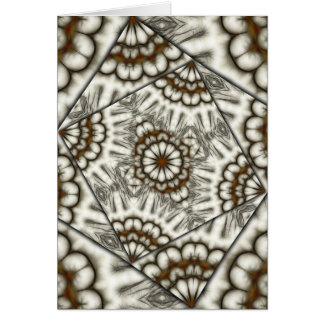 Kaleidoscope fans in browns vertical greeting card