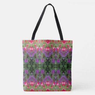 Kaleidoscope Flower Pattern 19 LARGE Tote Bag