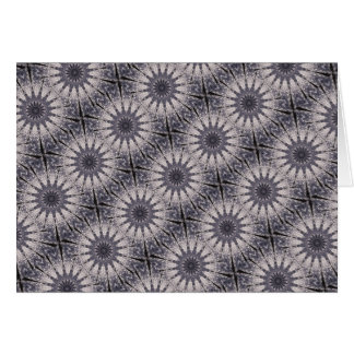 Kaleidoscope Flower Shades of Blue and Grey Card