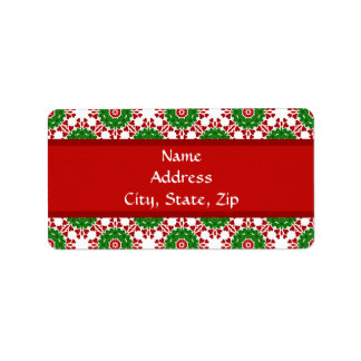 Kaleidoscope for Christmas Address Label
