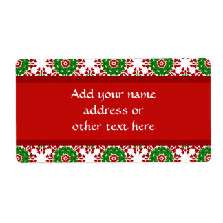 Kaleidoscope for Christmas Personalized Shipping Labels