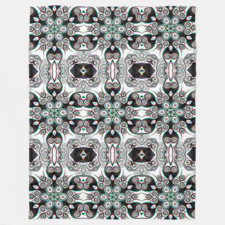 Kaleidoscope Fractal Pattern IVa + your ideas Fleece Blanket