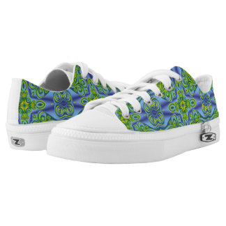 Kaleidoscope Fractal Pattern XI + your ideas Printed Shoes