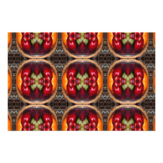 kaleidoscope fruit art photo print