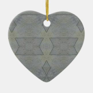 Kaleidoscope Gray Geometric Pattern Ceramic Ornament