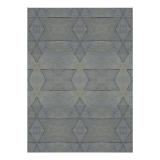 Kaleidoscope Gray Geometric Pattern Poster
