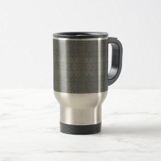 Kaleidoscope Gray Geometric Pattern Travel Mug