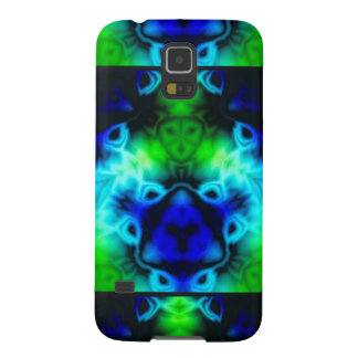 Kaleidoscope image with blues and gree galaxy s5 cover