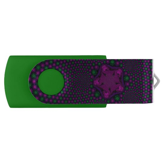 Kaleidoscope in a galaxy swivel USB 2.0 flash drive