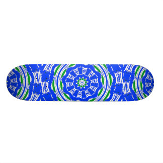 Kaleidoscope in Blue and Green Skateboard