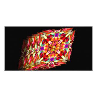 Kaleidoscope in Motion Custom Photo Card