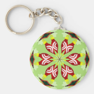 Kaleidoscope 'K1 SQ' Basic Round Button Key Ring