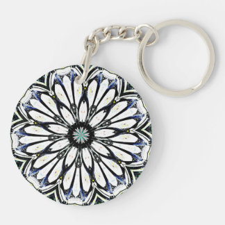 Kaleidoscope Keyring Double-Sided Round Acrylic Key Ring