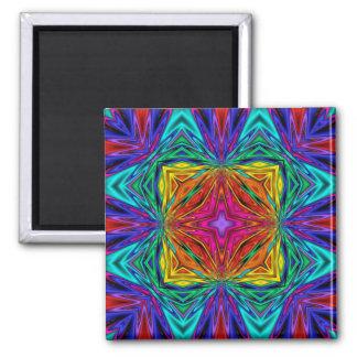 Kaleidoscope Kreations Flashing Fractal No3 Square Magnet