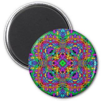Kaleidoscope Kreations Fun Fractals No 1 6 Cm Round Magnet