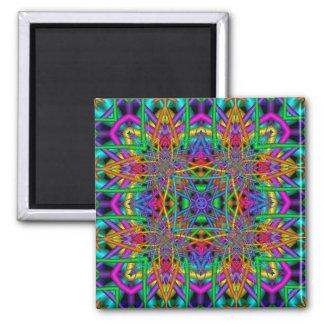 Kaleidoscope Kreations Fun Fractals No 2 Square Magnet