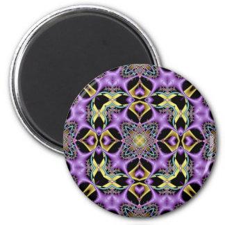 Kaleidoscope Kreations Lemon & Lilac No 1 6 Cm Round Magnet