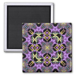 Kaleidoscope Kreations Lemon & Lilac No 1 Square Magnet