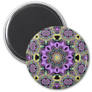 Kaleidoscope Kreations Lemon & Lilac No 3 6 Cm Round Magnet