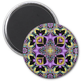 Kaleidoscope Kreations Lemon & Lilac No 3 6 Cm Round Magnet