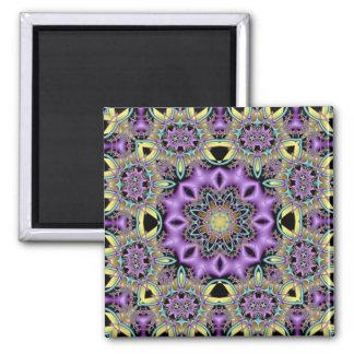 Kaleidoscope Kreations Lemon & Lilac No 3 Square Magnet