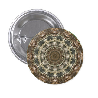 Kaleidoscope Kreations Moth Wing 2 Button 1 Inch Round Button